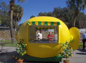 Fresh squeezed lemonade store front lemonade trailer for Lemon shaped lemonade stand